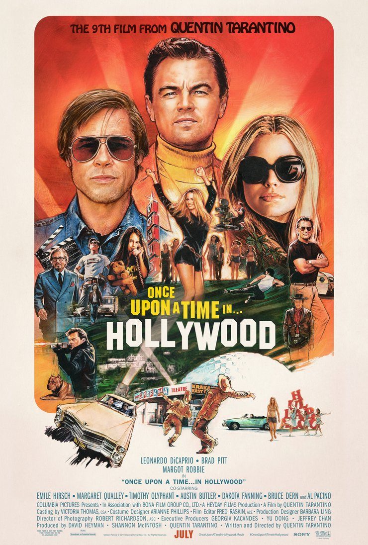 Once Upon a Time in Hollywood Poster - بهترین پوستر های فیلم 2019